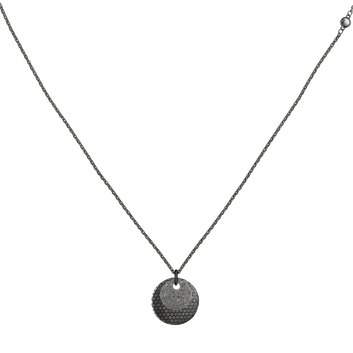 MOVADO Movado Disc Necklace1840015 – Collier-chaînette à disque noir - Front view