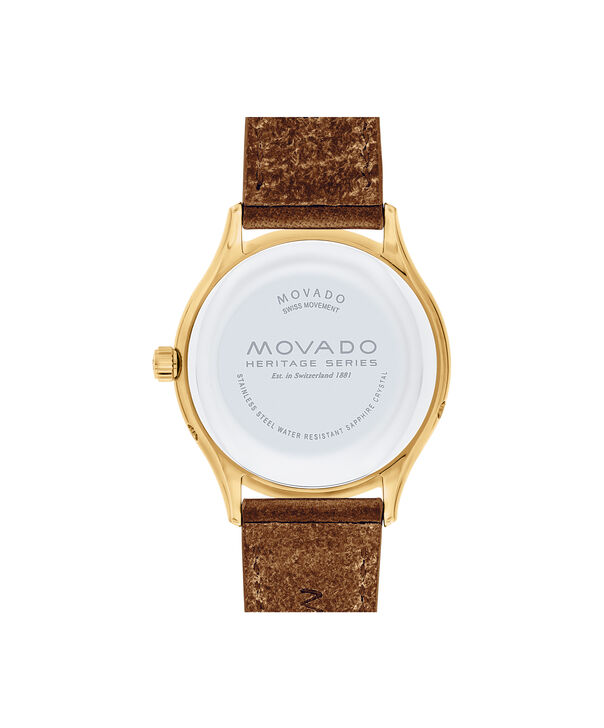 MOVADO Movado Heritage Series3650010 – Women's 36 mm strap watch - Back view
