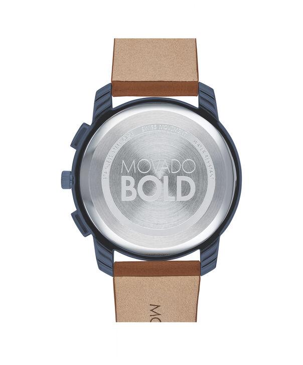 MOVADO Movado BOLD3600630 – 42mm Movado BOLD Thin Chronograph on Strap - Back view