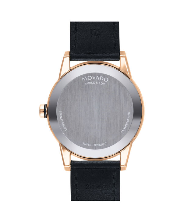 MOVADO Museum Sport0607358 – Museum Sport 42mm Leather Strap - Back view