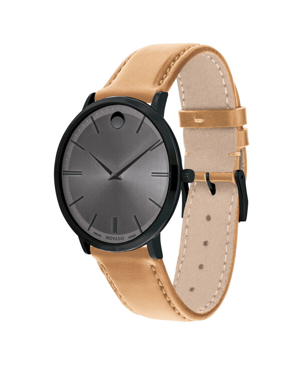 MOVADO Movado Ultra Slim0607378 – Movado Ultra Slim 40mm Leather Strap - Side view