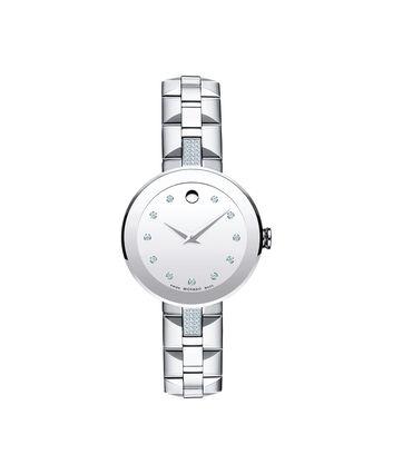 MOVADO Sapphire0606815 – Montre-bracelet à cadran de 28 mm pour femmes - Front view