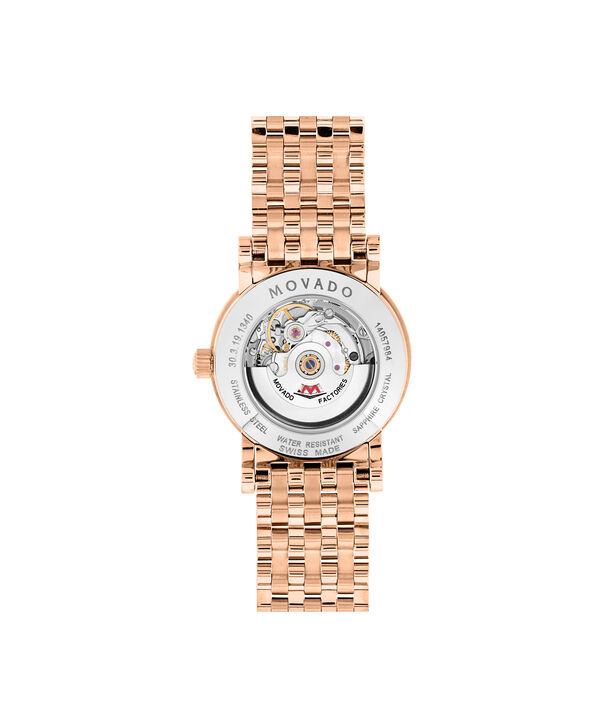 MOVADO Red Label0607064 – Women's 26 mm automatic bracelet watch - Back view