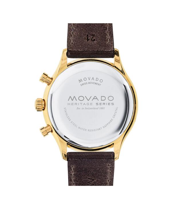 MOVADO Movado Heritage Series3650007 – Chronographe de 43 mm pour hommes, avec bracelet souple - Back view