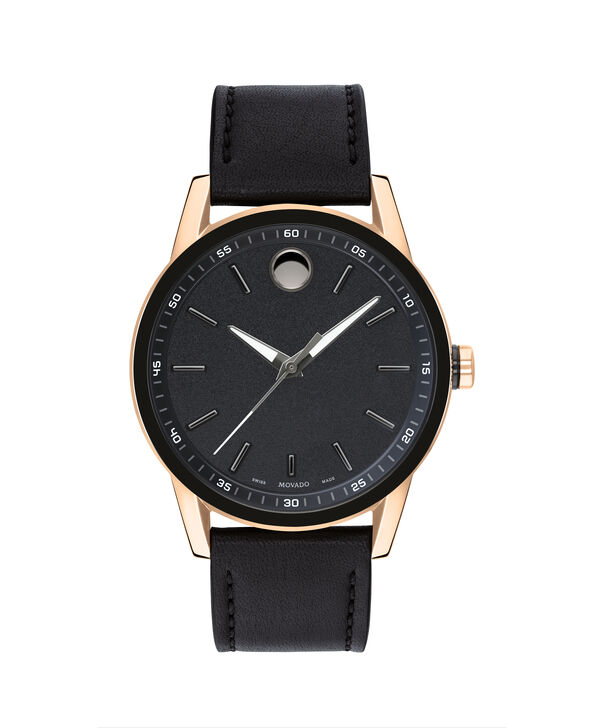 MOVADO Museum Sport0607358 – Museum Sport 42mm Leather Strap - Front view