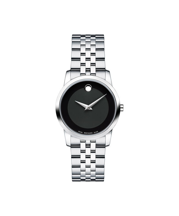 Movado | Montre-bracelet en acier inoxydable du Musée femmes avec cadran noir