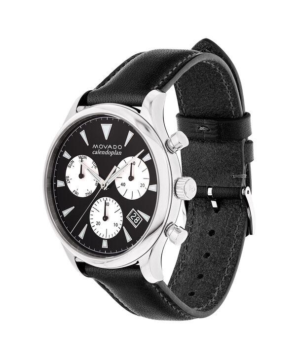 MOVADO Movado Heritage Series3650005 – Chronographe de 43 mm pour hommes, avec bracelet souple - Side view