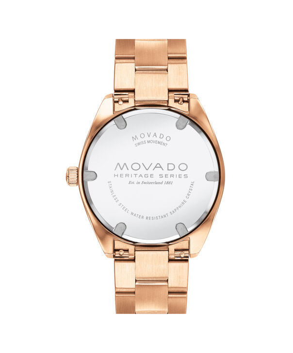 MOVADO Movado Heritage Series3650058 – Men's 39 mm bracelet watch - Back view