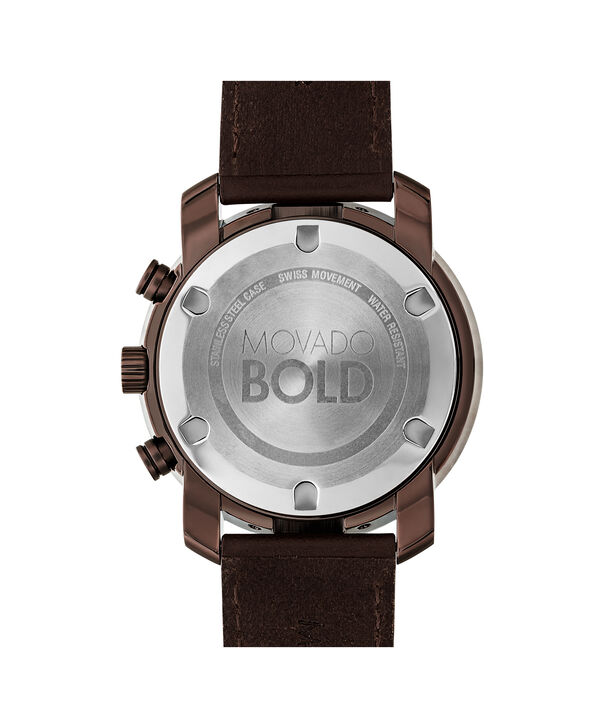 MOVADO Movado BOLD3600420 – 44 mm Metals strap chronograph - Back view