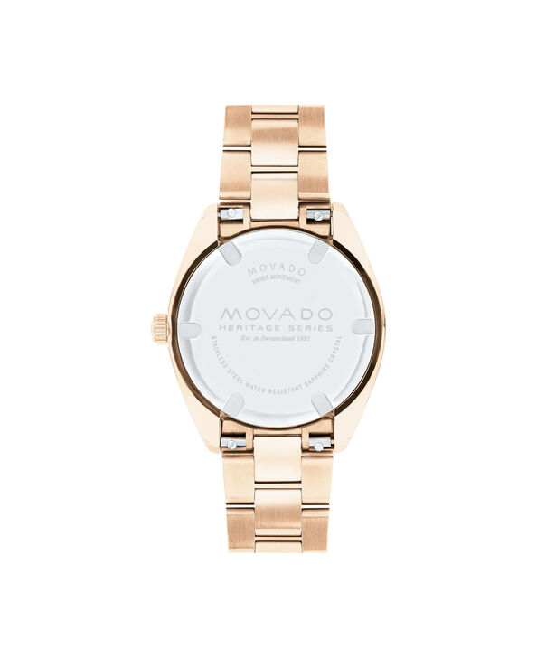 MOVADO Movado Heritage Series3650071 – Women's 31 mm bracelet watch - Back view
