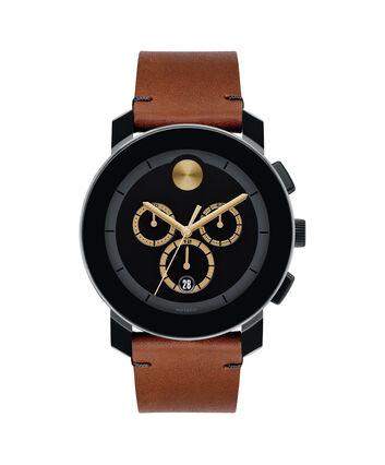 MOVADO Movado BOLD3600540 – Chronographe de 43 mm avec bracelet en cuir Colorado - Front view
