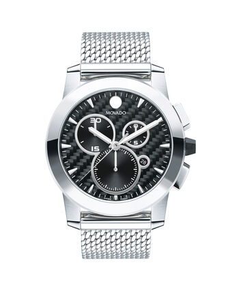 MOVADO Vizio0607380 – 45mm Vizio Chrono on Mesh - Front view