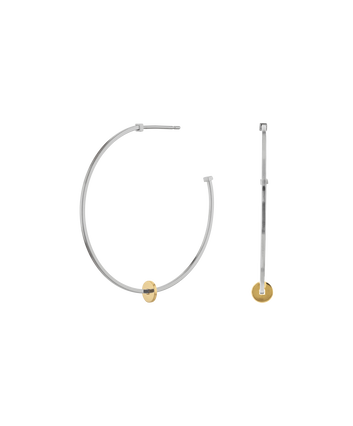 MOVADO Movado Simple Hoop Earrings1840038 – Grosses boucles argent Movado Simple Hoop - Front view