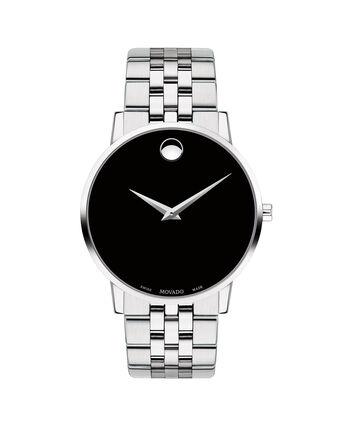 MOVADO Museum Classic0607199 – Montre-bracelet à cadran de 40 mm pour hommes - Front view