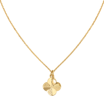 MOVADO Movado Flora Necklace1840005 – Yellow Gold quatrefoil Necklace - Front view