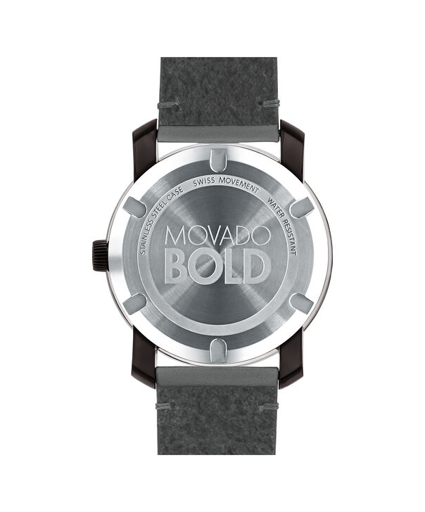 MOVADO Movado BOLD3600455 – Montre de 42 mm avec bracelet en cuir Colorado - Back view