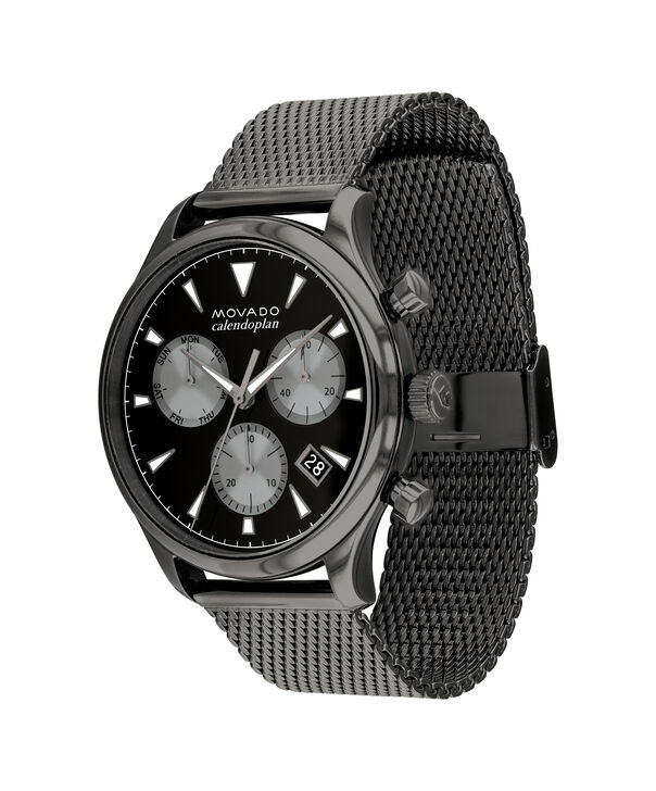 MOVADO Heritage Series3650100 – 43mm Heritage Series Calendoplan Chrono on Mesh - Side view