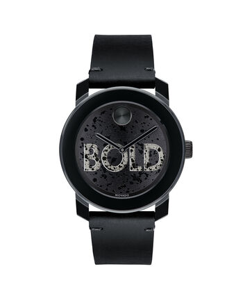 MOVADO Movado BOLD3600558 – 42 mm leather strap watch - Front view