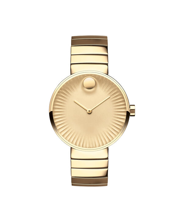 Movado   Movado Edge women's mid-size yellow gold PVD-finished stainless steel watch with gold-toned dial
