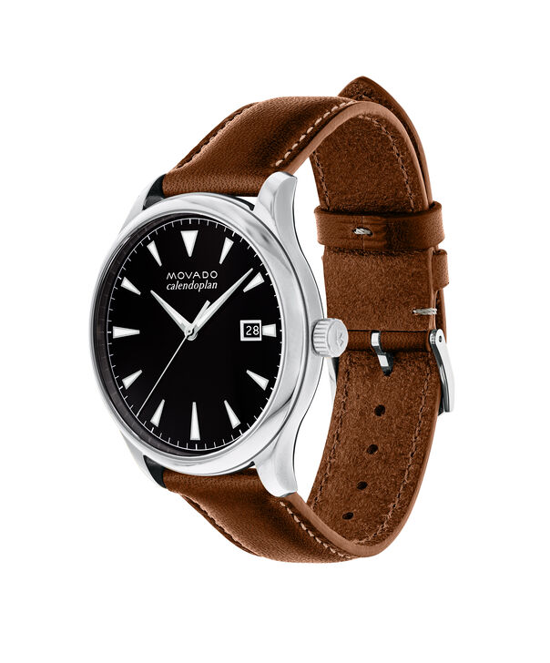MOVADO Movado Heritage Series3650001 – Men's 40 mm strap watch - Side view