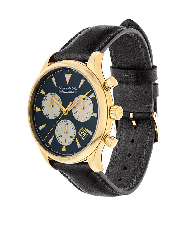 MOVADO Movado Heritage Series3650006 – Men's 43 mm strap chronograph - Side view