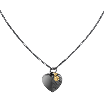 MOVADO Movado Heart Necklace1840029 – Collier noir Movado Heart - Front view