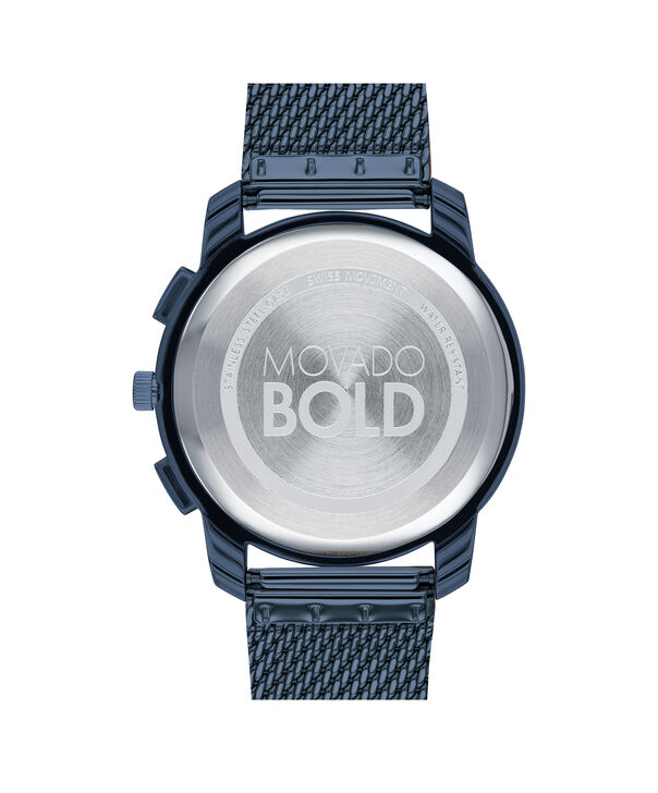 MOVADO Movado BOLD3600633 – 42mm Movado BOLD Thin Chronograph on Mesh - Back view