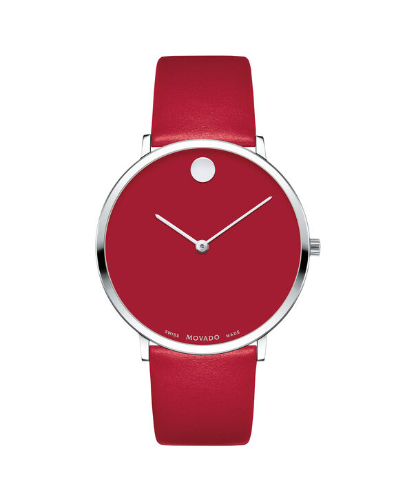MOVADO Modern 470607250 – Movado.com EXCLUSIVE 40mm strap watch - Front view