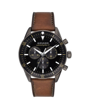 MOVADO Movado Heritage Series3650060 – 42 mm strap chronograph - Front view