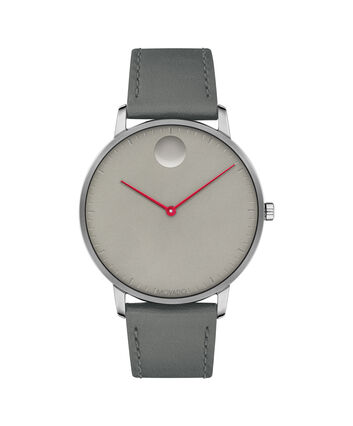 MOVADO Movado Face3640034 – 41mm Movado Face on Strap - Front view