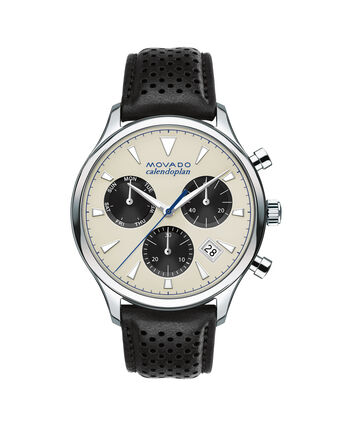 MOVADO Movado Heritage Series3650024 – Men's 43 mm strap chronograph - Front view
