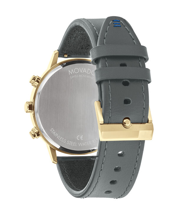 MOVADO Movado Face3640043 – Movado Face Chrono 43 mm, brac. Souple - Back view