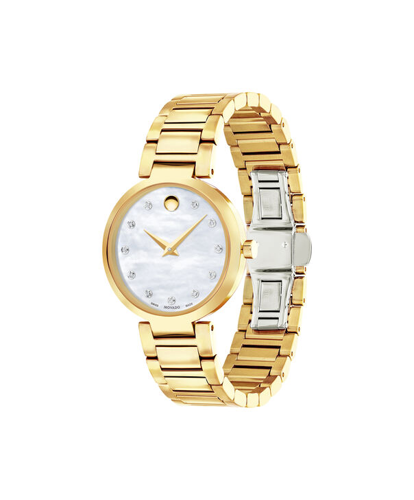 MOVADO Modern Classic0607105 – Montre-bracelet à cadran de 28 mm pour femmes - Side view