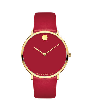 MOVADO Modern 470607253 – Movado.com EXCLUSIVE 40mm strap watch - Front view