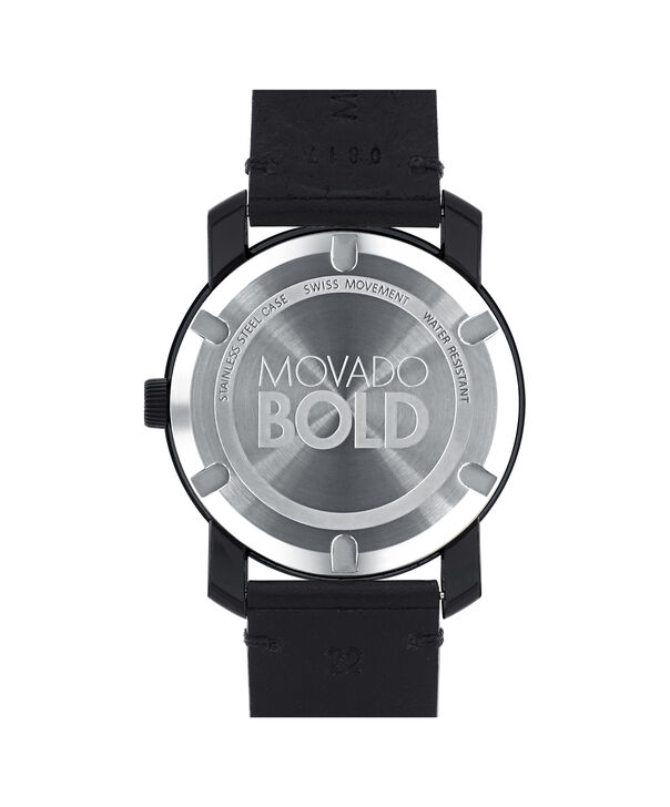 MOVADO Movado BOLD3600306 – Montre de 42 mm avec bracelet en cuir Colorado - Back view