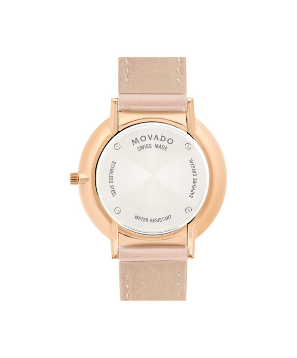 MOVADO Movado Ultra Slim0607373 – Ultra Slim de 24 mm, bracelet en cuir - Back view