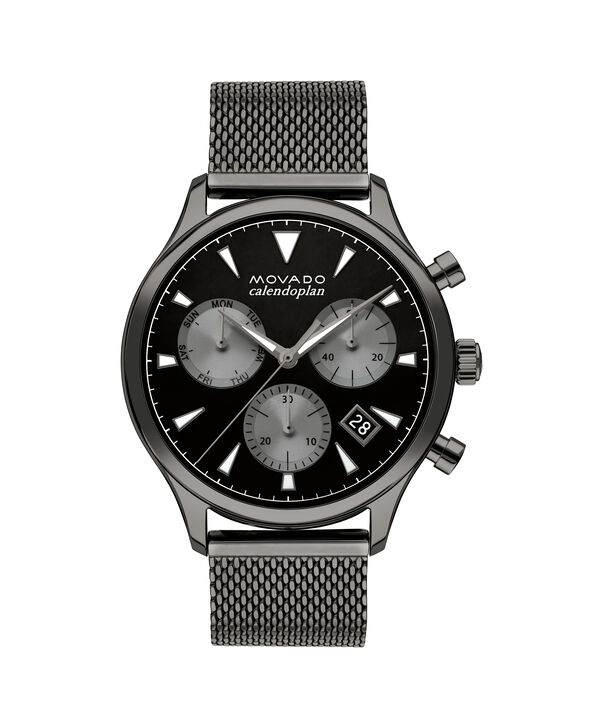 MOVADO Heritage Series3650100 – 43mm Heritage Series Calendoplan Chrono on Mesh - Front view