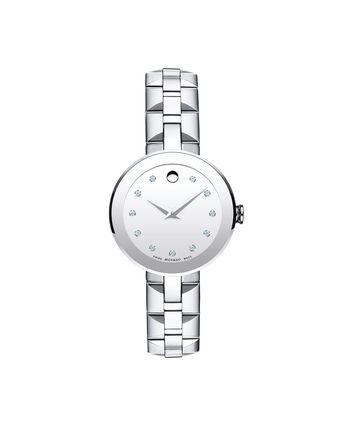 MOVADO Sapphire0606814 – Montre-bracelet à cadran de 28 mm pour femmes - Front view
