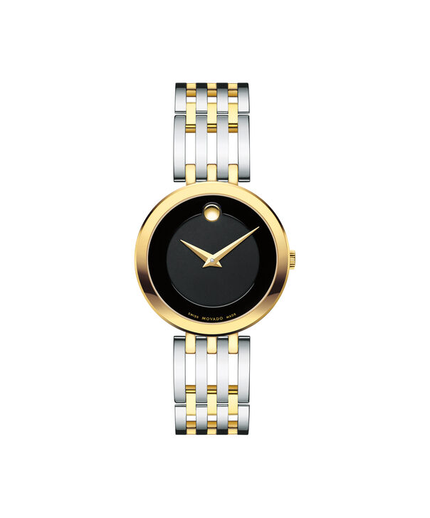 Movado | Esperanza Women's Two Toned Watch with Black Dial