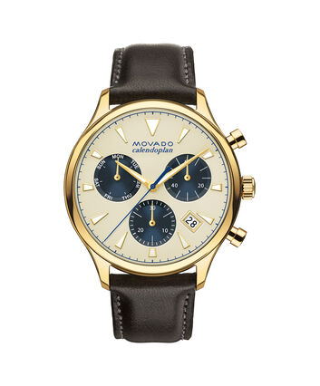 MOVADO Movado Heritage Series3650007 – Men's 43 mm strap chronograph - Front view