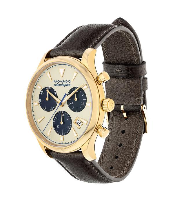MOVADO Movado Heritage Series3650007 – Chronographe de 43 mm pour hommes, avec bracelet souple - Side view