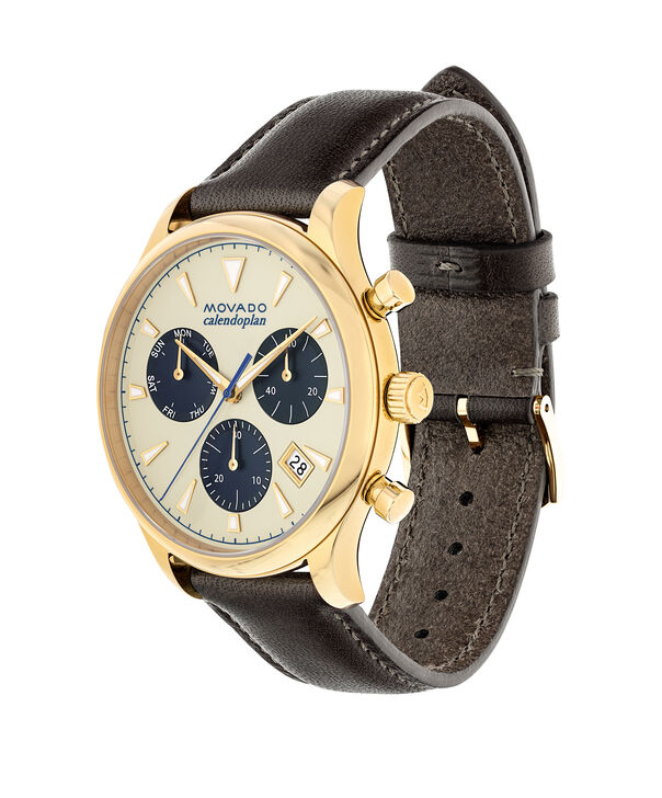 MOVADO Movado Heritage Series3650007 – Men's 43 mm strap chronograph - Side view