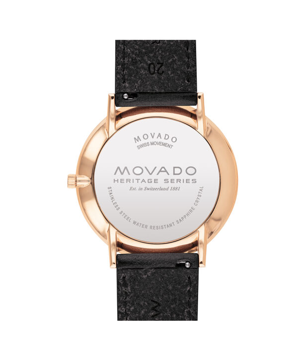 MOVADO Movado Heritage Series3650068 – Men's 40 mm strap watch - Back view
