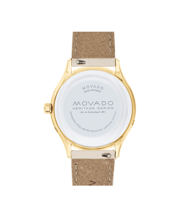 MOVADO Movado Heritage Series3650072 – Women's 36 mm strap watch - Back view