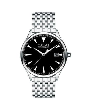 MOVADO Movado Heritage Series3650012 – Montre-bracelet à cadran de 40 mm pour hommes - Front view