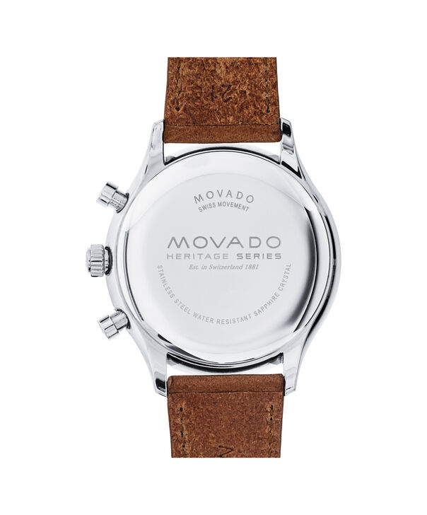 MOVADO Movado Heritage Series3650008 – Men's 43 mm strap chronograph - Back view