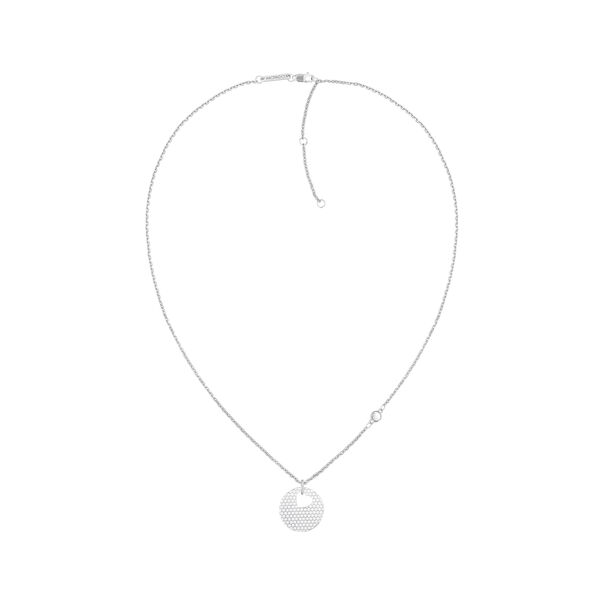 MOVADO Movado Heart on Chain Necklace1840007 – Silver Heart Necklace - Side view