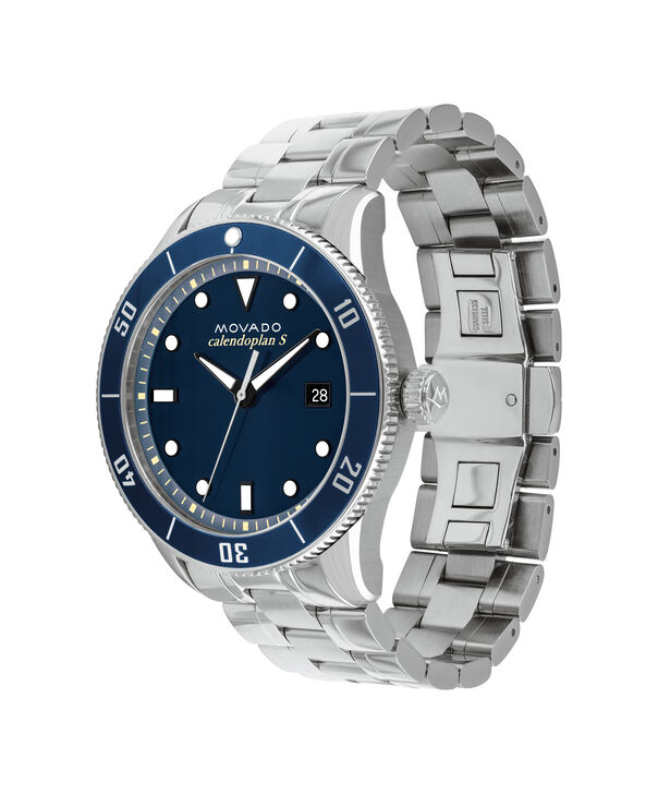 MOVADO Heritage Series3650094 – 43mm Heritage Series Calendoplan S Diver on Bracelet - Side view