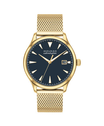 MOVADO Heritage Series3650099 – 40mm Heritage Series Calendoplan 3H on Mesh - Front view
