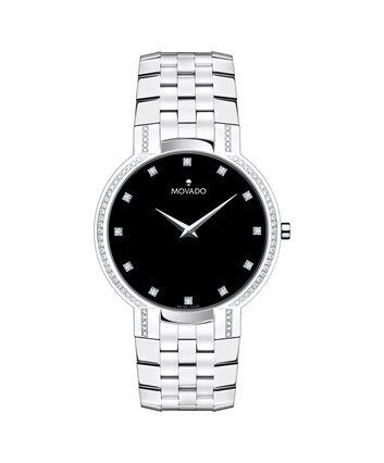 MOVADO Faceto0606237 – Montre-bracelet à cadran de 38 mm pour hommes - Front view